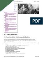 Project Management for Construction Cost Estimation