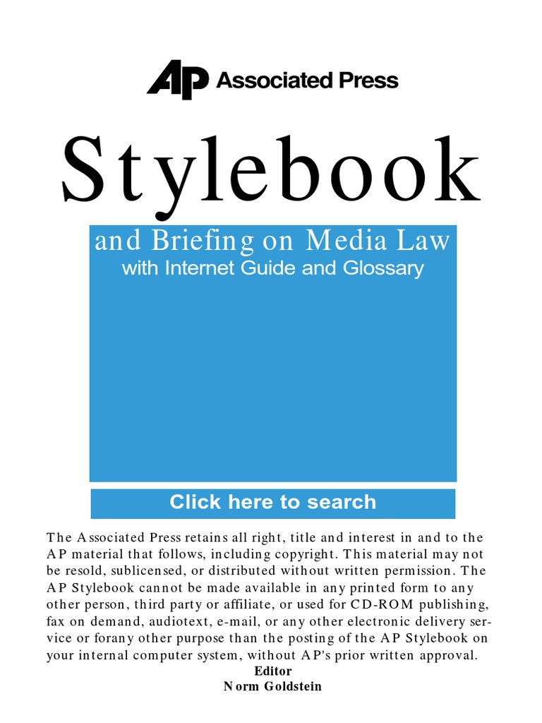 Ap style book guidepdf associated press amtrak fandeluxe Image collections