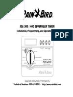 Rainbird 300/400 Sprinkler Manual