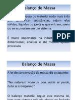 Aula Disciplina Balanço de Massa
