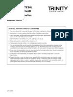 (2005 Assess.) August 2008 - Unit 1 Examination