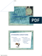 Tape Corrections