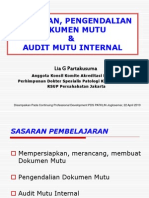 Persiapan Dokumen Audit Mutu Int ISO 15189