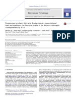 an13Temperature regulates fatty acid desaturases at a transcriptional level and modulates the fatty acid profile in the Antarctic microalga Chlamydomonas sp. ICE-L