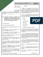 Décret exécutif n° 10-181 du 1er Chaâbane 1431 correspondant au 13 juillet 2010 fixant le seuil applicable aux opérations de paiements devant être effectués par les moyens de paiement à