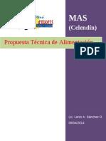 PROPUESTA TECNICA DE ALIMENTACIÓN MAS CELENDÍN