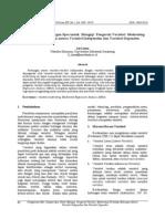 Liana (2009) Penggunaan MRA Dengan Spss Untuk Menguji Pengaruh Variabel Moderating Terhadap Hubungan Antara Variabel Independen Dan Variabel Dependen