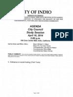 City Agenda April 16, 2014