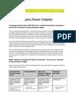 Comm Health Worker Matrix Planner Example