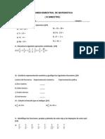 EXAMEN BIMESTRAL DE MATEMÁTICA 5