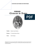 CLEMENTE DE ROMA - Patrología