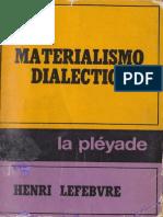 Henri Lefebvre-El materialismo dialéctico