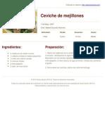 Sabores en Linea - Ceviche de Mejillones - 2013-02-22