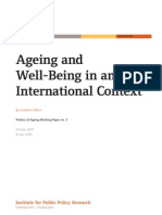 Ageing and Wellbeing in an International Context