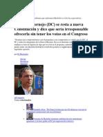 30 de noviembre de 2013 Diputado Cornejo (DC) se resta a nueva Constitución y dice que sería irresponsable ofrecerla sin tener los votos en el Congreso