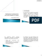 Aula 01 - Parametros Fundamentais Da Conformacao de Chapas