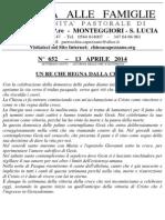 Lettera alle Famiglie - 13 aprile 2014
