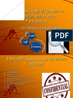 Ethics and Code of Conduct in Research With