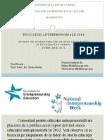 Educatia Antreprenoriala 2012- Varianta Lunga