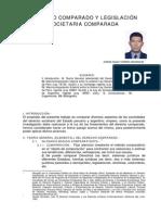 DERECHO COMPARADO Y LEGISLACIÓN SOCIETARIA COMPARADA