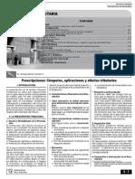 Prescripciones Cómputos, aplicaciones y efectos tributarios