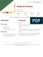 Sabores en Linea - Crepas de Mariscos - 2012-06-11