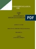 RESUMO DA DOUTRINA ESPÍRITA - GUSTAVE GELEY