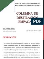 COLUMNA DE Destilación EMPACADA
