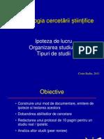 Curs 2 CB Metodologia Cercetarii Oct 2012