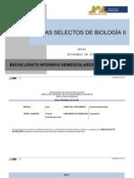 Temas Selectos de Biologia II 0