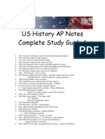 AP US History Study Guide