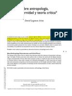 Antropologia Actualidad y Critica