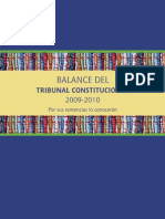 Balance Del Tribunal Constitucional