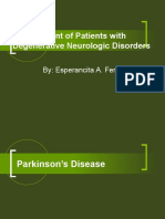 management of patients with degenerative neurologic disorders