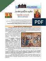 323. Sambata Lui Lazar (Invierea Lui Lazar)