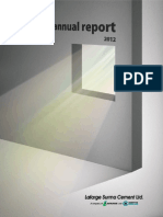 Annual Report of Lafarge Surma Cement 2012 (Bangladesh)