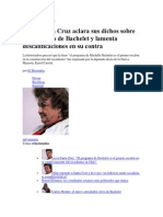 29 de noviembre de 2013 Lucía Santa Cruz aclara sus dichos sobre el programa de Bachelet y lamenta descalificaciones en su contra