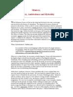 Mimicry, Hybridity & Am Bi Valance