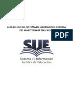 Guía del uso del Sistema de Información Jurídica de Educación - Perú