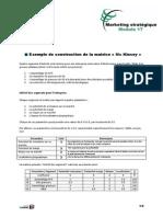 Exemple de construction de la matrice Mc Kinsey - Marketing stratégique