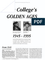 The College's Golden Ages