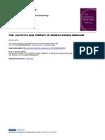 LEITH (the Diatritus and Therapy in Graeco-Roman Medicine) [PY 2008] [KW Methodic School]