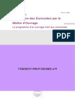 Application Des Eurocodes Sur La Maitrise d'Ouvrages