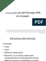 Guía para uso del formato APA 6ta Edición
