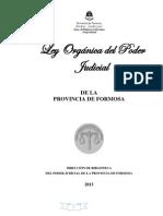 Ley orgánica Poder Jud. Formosa