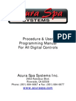 Acura Spa Systems Inc Manual