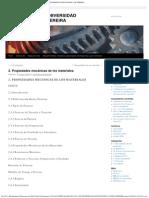 2. Propiedades mecánicas de los materiales.   METALOGRAFÍA - UNIVERSIDAD TECNOLÓGICA DE PEREIRA