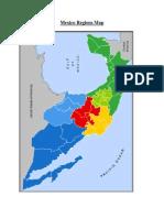 mexico regionstates map
