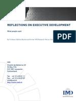 Reflections on Executive Development