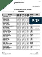 Rezultate Arhitectura in Ordine Alfabetica 2011
